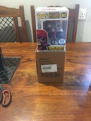 Marvel * Zombie Magneto Pop Vinyl Figure #663 * Limited Edition Funko Shop *new • 29.95£