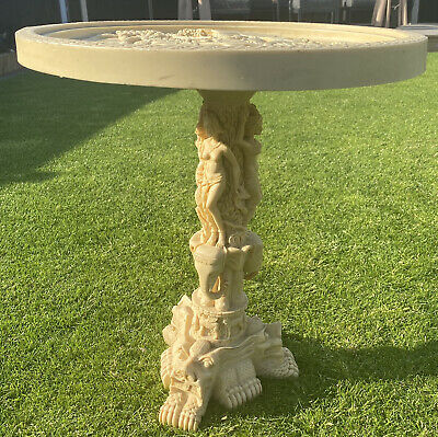Antique 1920s Oriental Japanese Chinese Occasional Side Table Faux Ivory Stone • 89.99£