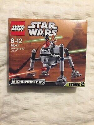 New LEGO Star Wars 75077 Homing Spider Droid Micro Fighter Discontinued Retired • 18£