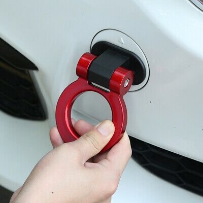 $8.41 • Buy Universal Car Ring Track Racing Style Tow Hook Look Decoration Red Accessories