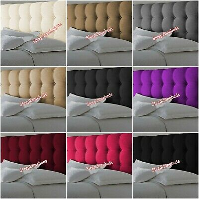 Top Quality Butt Cube Buttons Bed Headboard In Chenille Fabric In 20  Height • 49.99£