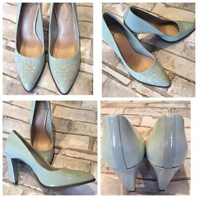 Clarks Somerset Size 5 Mint Green Shoes Art Deco Design Wedding Occasion • 22.95£