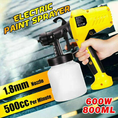 Electric Airless Paint Sprayer Gun HVLP 400W Fence Wall Furniture Spray Tan 220V • 35.68£