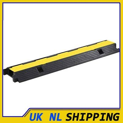 UKING Cable Protector Ramp 1 Channel Rubber 100cm Conduit Wire Road Cover • 23.59£