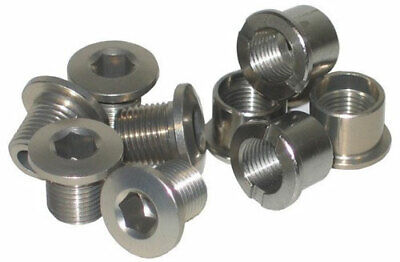 Double Bike Chainring Bolts Stronglight Set Of 5 Silver • 13.99£