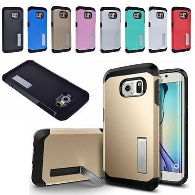 $ CDN4.82 • Buy Shockproof Hybrid Rugged Stand Cover Case Armor For Samsung Galaxy S6 Edge+ Plus