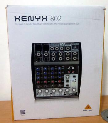 Behringer XENYX 802 8-Input 2-Bus Mixer - XENYX Mic Preamps And British EQ's • 44.99£