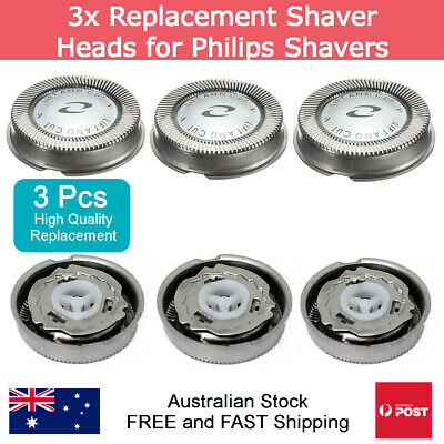 AU11.95 • Buy 3x Replacement Shaver Heads For Philips HQ30 HQ40 HQ55 HQ56 HQ6970 HQ130 HQ4 HQ3
