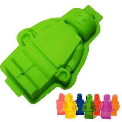 £10.26 • Buy Silicone Silicon Lego Figure Cake Dessert Chocolate Soap Candle Resin Mould Mold