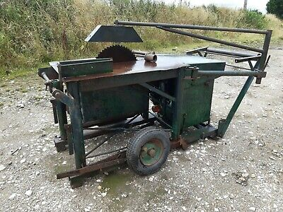 GARBO PORTABLE SITE SAWBENCH , LISTER DIESEL ENGINE Firewood  Fencing Table Saw • 850£