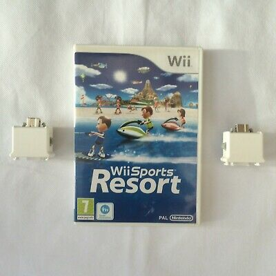 Wii Sports Resort Nintendo Wii PAL COMPLETE With 2 Official Motion Plus White • 22.99£