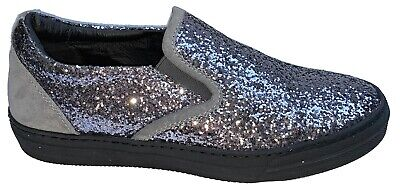 / Joshua Sanders SlipOn Sneakers Trainer Casual Womens Glittery Shoes Made Italy • 24.99£