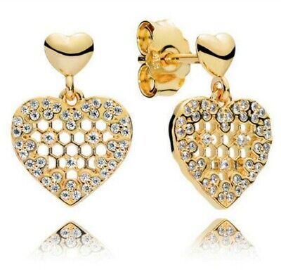 PANDORA Shine Honeycomb Lace Drop Earrings 267068CZ BNIB GENUINE  • 59.99£