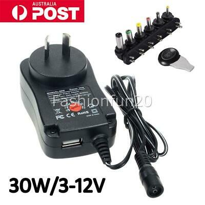 AU17.95 • Buy 3V 5V 6V 7.5V 9V 12V 2.1A Universal AC/DC Plug-in Power Wall Supply Adapter OZ