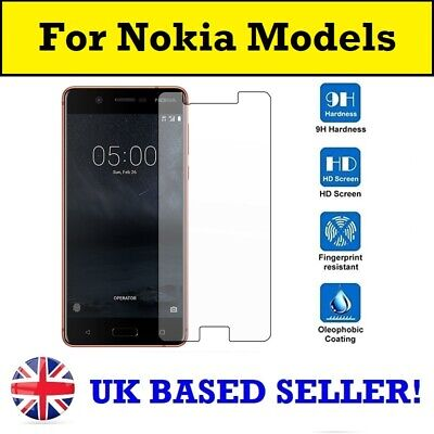 100% Genuine Tempered Glass Screen Protector Nokia 1.3 5.3 2.3 7.2 8 1 Plus 6.1 • 2.96£