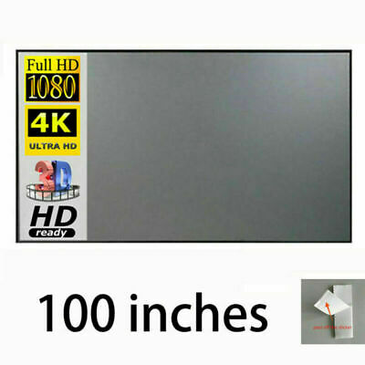 AU34.97 • Buy Projection Screen Material Anti-Light Projector Screen 4K 3D Cinema Screen 100