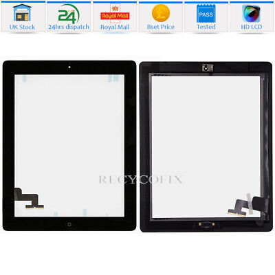 For IPad 2 A1395 A1396 A1397 Touch Screen Digitizer Glass Replacement + IC Black • 8.99£