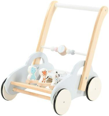 Baby Walker, Push Along Toy For Infant, Kid Push Toy With Wheels, Wooden Toddler • 55£