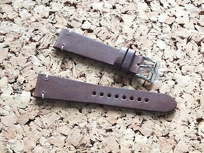 Genuine Leather Quick Release Vintage Watch Strap 20mm Brown By Geckota • 12.99£