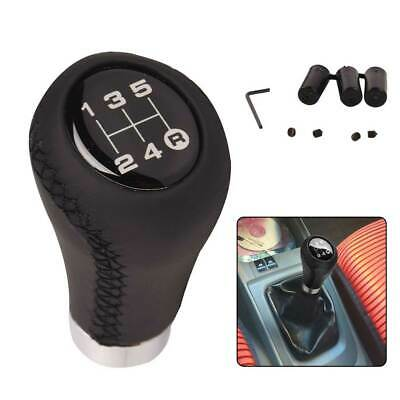 AU18.99 • Buy TOPAZ Universal 5 Speed Manual MT Leather Gear Shift Knob Stick Shifter Lever