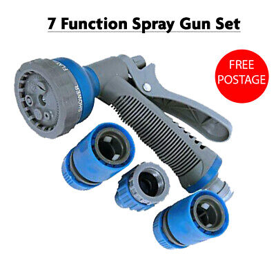 Garden Hose Connector Set & Spray Gun Water Sprayer And Pipe Fittings Accessory  • 7.99£