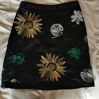 Embroided 90s Style A Line Skirt Topshop • 13£