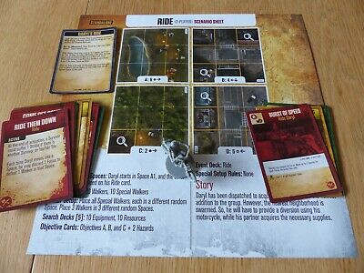 Walking Dead No Sanctuary Board Game Daryl Ride Expansion Kickstarter Exclusive! • 26.99£