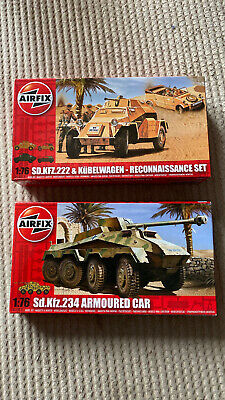 Airfix SD.KFZ.222 And Kubelwagen Reconnaissance Set And Armoured Car Kits • 15£