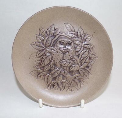 Poole Pottery British Bird Series Display Plate Depicting An Owl In Stoneware • 4.99£