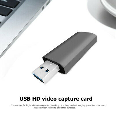 Mini USB 2.0 HDMI Capture Card Portable 4K Video Game Live Streaming Recorder • 8.27£