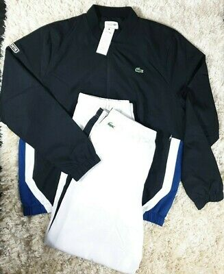 £109.67 • Buy New Lacoste Wh9512 Sport Tenis White / Blue Full Tracksuit Size 8 Xxxl Rrp £190