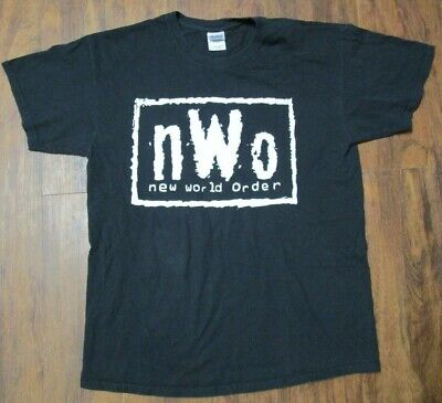 $ CDN37.58 • Buy Vintage NWO New World Order WCW WWF T Shirt Mens Sz L