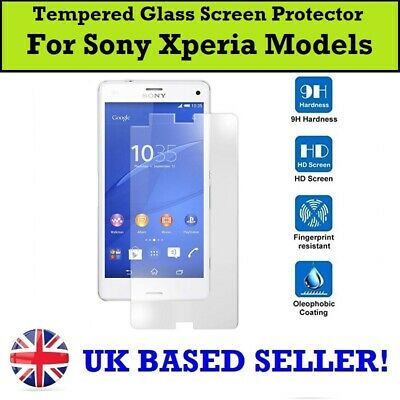 AU5.48 • Buy 100% Genuine Tempered Glass Screen Protector For Sony Xperia L4 5 10ii 1 L3 XZ