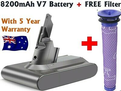 AU48.98 • Buy 8200mAh SV11 Battery For Dyson V7 Motorhead/Animal Handheld Vacuum +Free Filter
