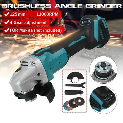 18V 125mm Cordless Electric Angle Grinder Polisher With Grinding Disc For Makita • 26.99£