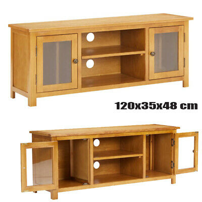 £176.55 • Buy TV Cabinet TV Unit Stand With Glass Windows And 2 Doors Living Room Furniture