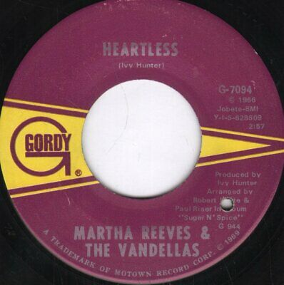 MARTHA REEVES AND THE VANDELLAS Taking My Love (And Leaving Me) 7 INCH VINYL USA • 5.24£