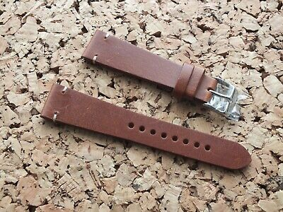 Genuine Leather Quick Release Vintage Watch Strap 20mm Nut Brown By Geckota • 3.99£