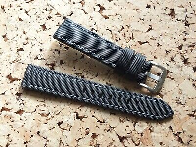 Black Waterproof Sailcloth Quick Release Watch Strap 20mm By Zuludiver • 6£