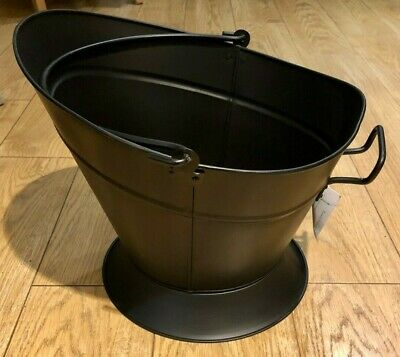 Coal Bucket Black Large Premium 'Waterloo' Ash Wood Log Container Scuttle Hod  • 24.99£