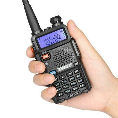 Baofeng UV-5R LCD Dual Band UHF VHF Ham Two Way Radio + Earpiece + Soft Case • 24.80£