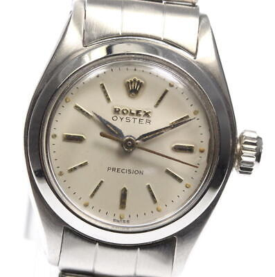 $ CDN1880.49 • Buy ROLEX Oyster Precision 6410 Vintage Silver Dial Hand Winding Ladies Watch_570440