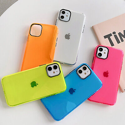 AU6.99 • Buy Clear Fluor Color Airbag Soft Case Cover For IPhone SE2 11 Pro Max XS XR 8 7 TPU