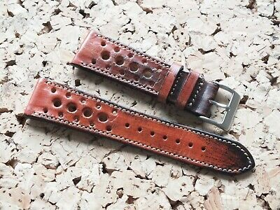 Genuine Top Grain Leather Radstock Rally Watch Strap Tan Brown 22mm By Geckota • 5.01£