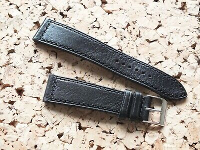 Genuine Leather Quick Release Watch Strap  20mm Black  By Geckota • 4.20£