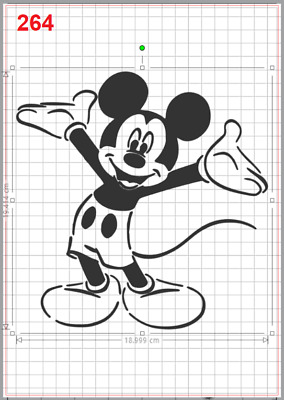 Mickey Mouse Welcome Stencil MYLAR A4 Sheet Strong Reusable Craft Wall Art Deco • 4.96£