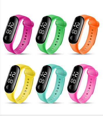 $ CDN4.69 • Buy Digital Sports Touch And Waterproof Watch For Men And Women Colourful Band