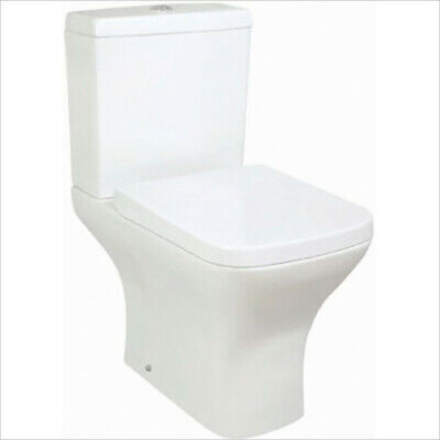 Porto Short Projection Toilet Close Coupled Compact Inc Seat FREE DELIVERY • 139.95£