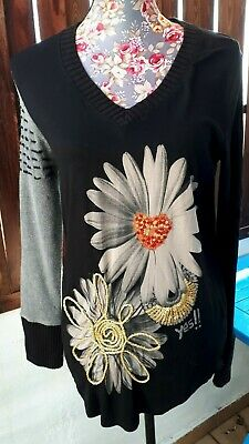 Ladies Top By Desigual Size L Quirky & Gorgeous • 7.99£