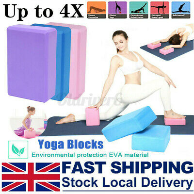 4X Yoga Pilates EVA Foaming Block Gym Fitness Brick Stretch Sport Home Exercise • 5.97£